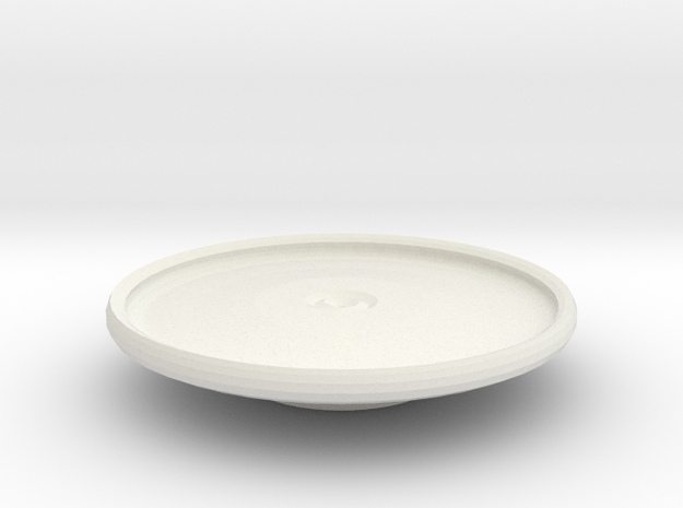 tarrant platter on stand in White Natural Versatile Plastic