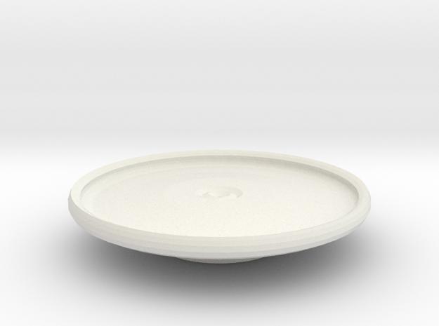 tarrant platter on stand in White Natural Versatile Plastic