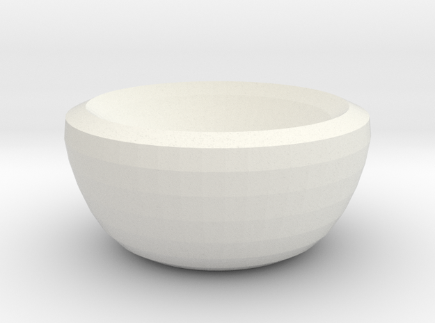 venus bowl in White Natural Versatile Plastic