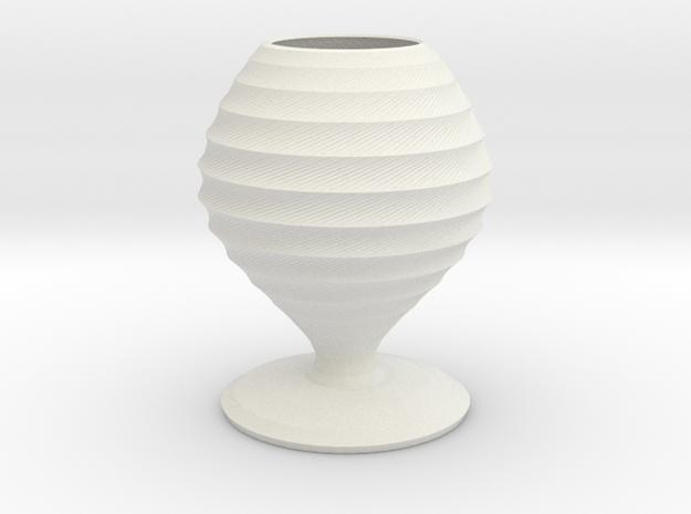 karloff vase  in White Natural Versatile Plastic