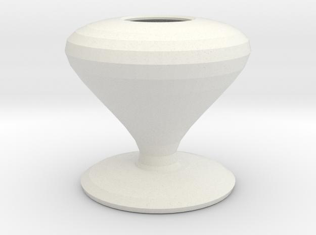smurfette vase  in White Natural Versatile Plastic