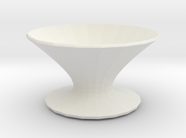 zorro vase in White Natural Versatile Plastic