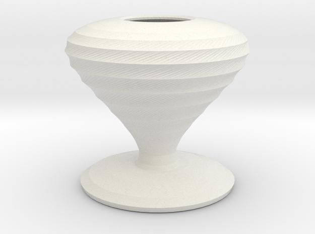 lugosi vase  in White Natural Versatile Plastic
