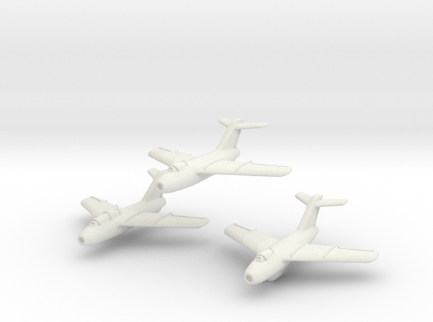 Lavochkin La-15 Fantail (3 planes set ) 6mm 1/285 3d printed