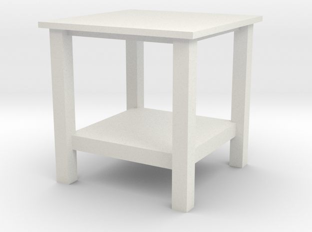 1:24Scale - Coffee Table in White Natural Versatile Plastic