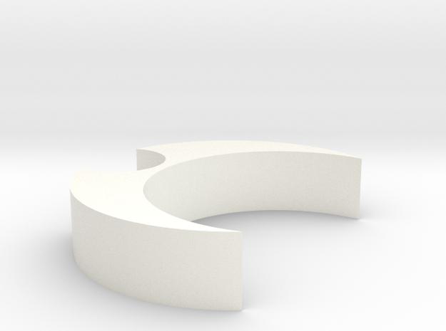 Mic Clip (27.5 flute, 10mm mic) in White Processed Versatile Plastic