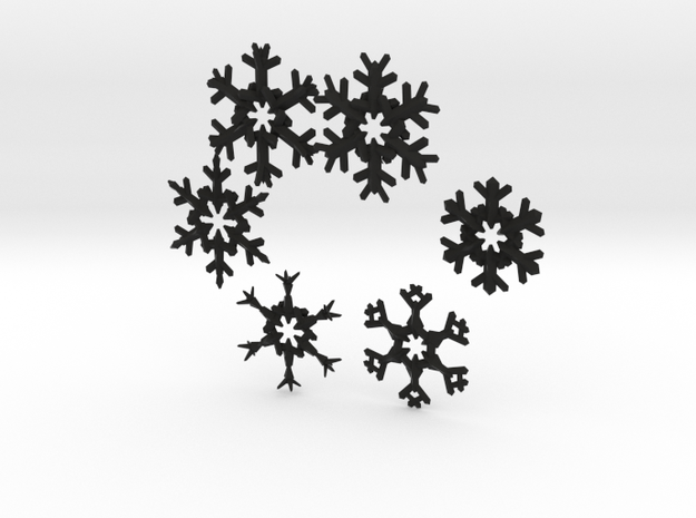 Snow Flakes 6 Points - MULTI PACK 3d printed