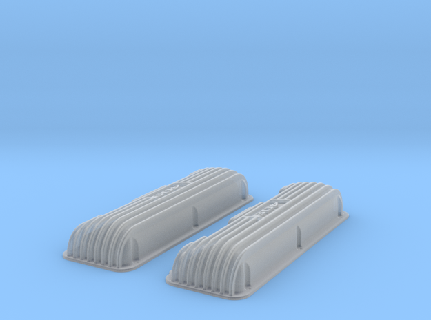 1 12 409 Finned Logo Valve Covers File 3d printed