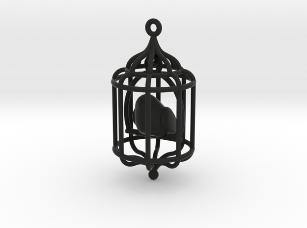 Bird in a Cage Pendant 02