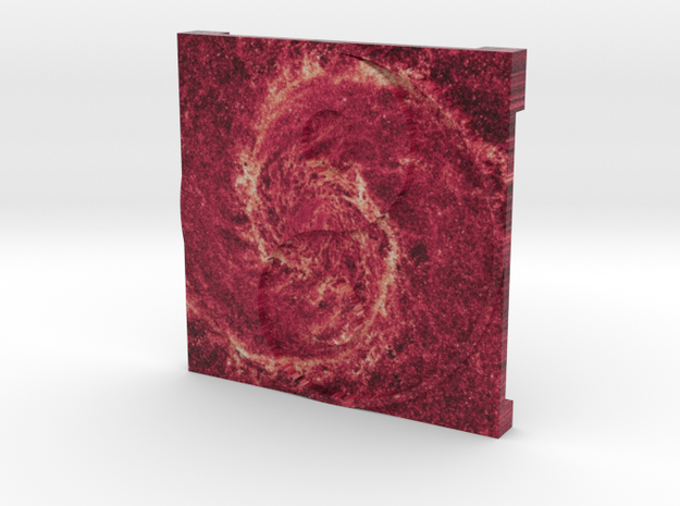 Whirlpool Galaxy over Ying Yang 3d printed