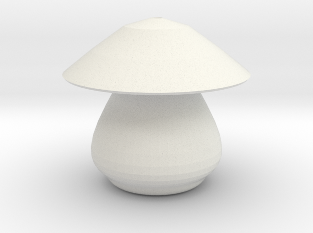 mushroom 2 in White Natural Versatile Plastic