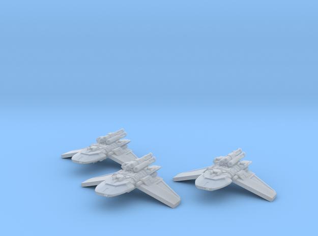 1/2256 X4 Gunship 3x 3d printed