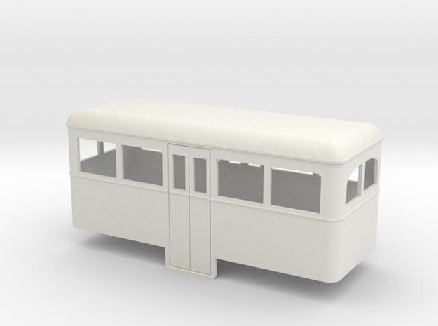 1:32/1:35 railbus Passenger trailer   in White Strong & Flexible