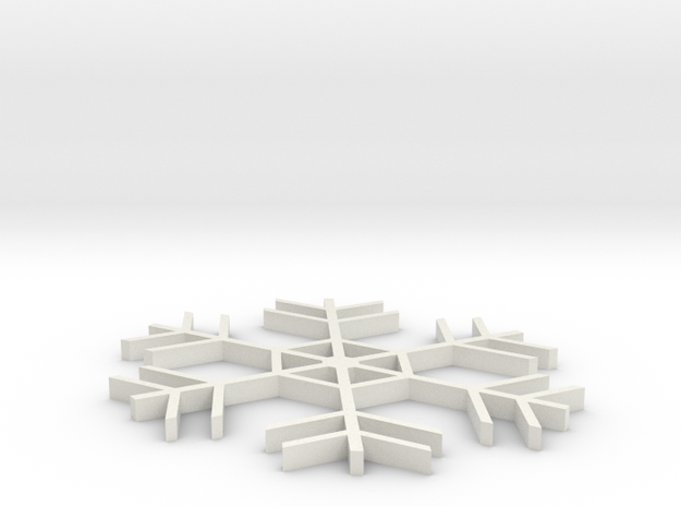 Amazing Snowflake Doily 3d printed