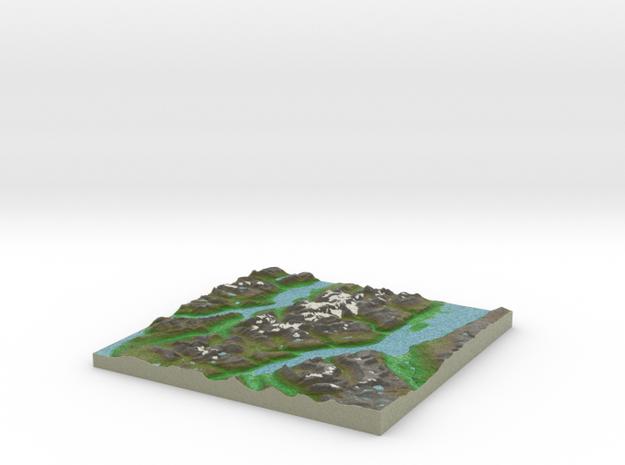 Terrafab generated model Sun Oct 27 2013 12:25:16  in Full Color Sandstone