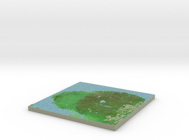 Terrafab generated model Mon Oct 21 2013 20:41:54 3d printed