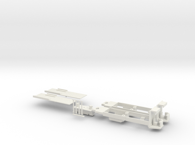 Rom Socimi chassis, H0 in White Natural Versatile Plastic