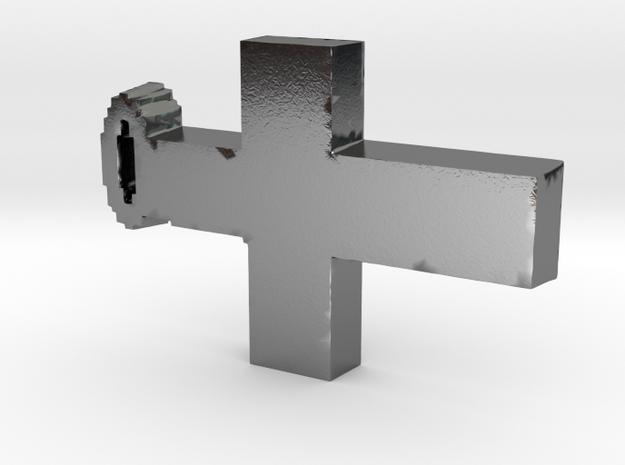 cross pendant 3d printed