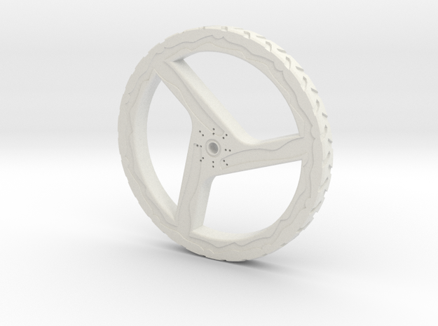 100mmFloppyBotWheel-02 in White Strong & Flexible