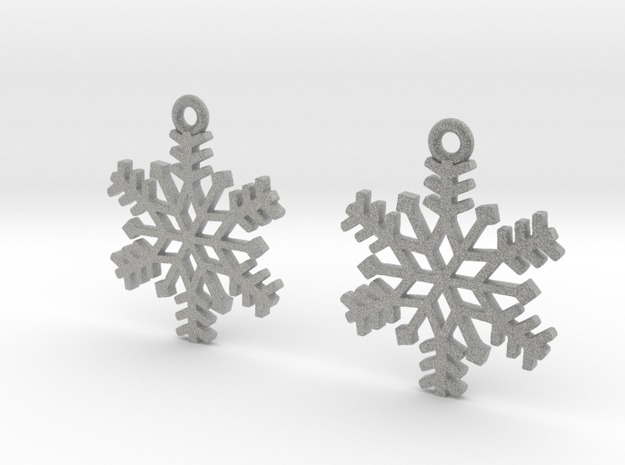 Snowflake Earrings 3d printed