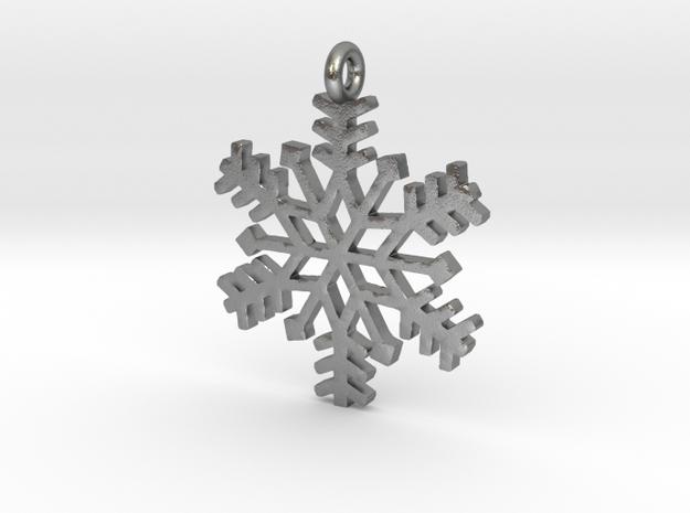 Snowflake Pendant 3d printed