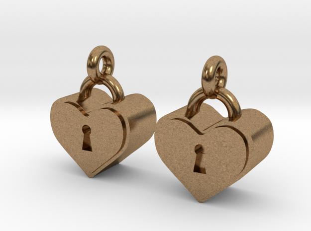 Heartlock Earrings 3d printed