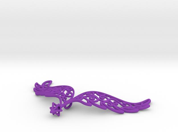 Angel Wings Pendant - in nylon 3d printed