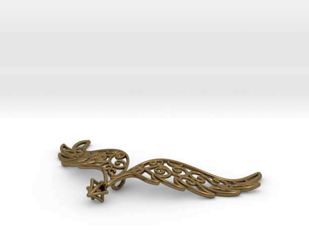 Angel Wings Pendant - precious metals 3d printed