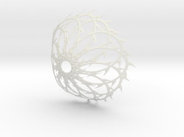 Rose in White Natural Versatile Plastic