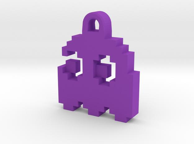 Pac Man Ghost 8-bit Earring 2 (looks left) 3d printed