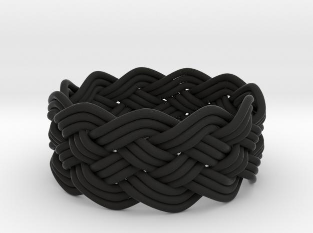 Turk's Head Knot Ring 5 Part X 11 Bight - Size 12 3d printed