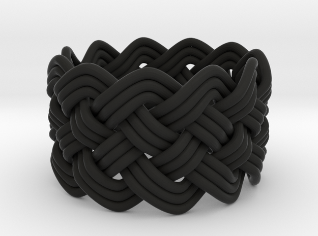 Turk's Head Knot Ring 5 Part X 11 Bight - Size 6.5 3d printed