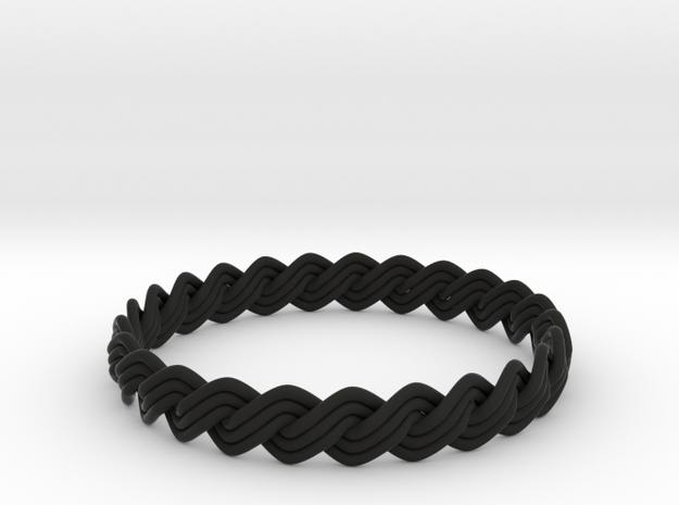 Turk's Head Knot Ring 2 Part X 25 Bight - Size 26. 3d printed