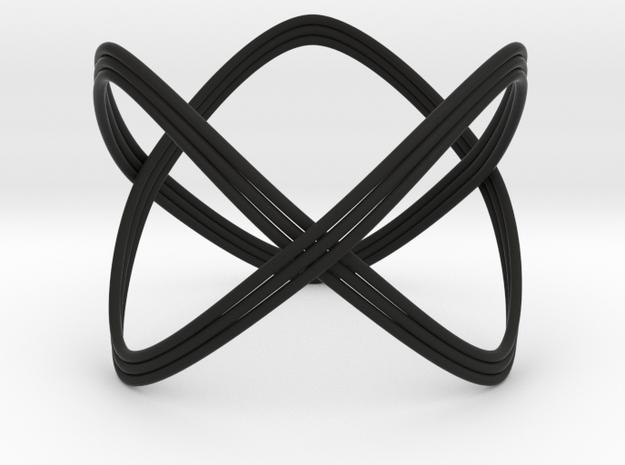 Turk's Head Knot Ring 2 Part X 3 Bight - Size 26.2 3d printed