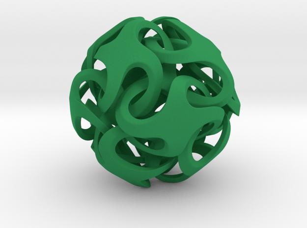 Rhombic Dodecahedron I, medium 3d printed