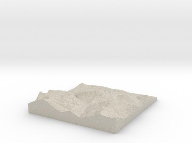 Model of Mühltal 3d printed