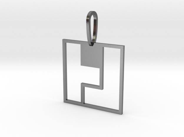 Tetromino Pendant - Square 3d printed