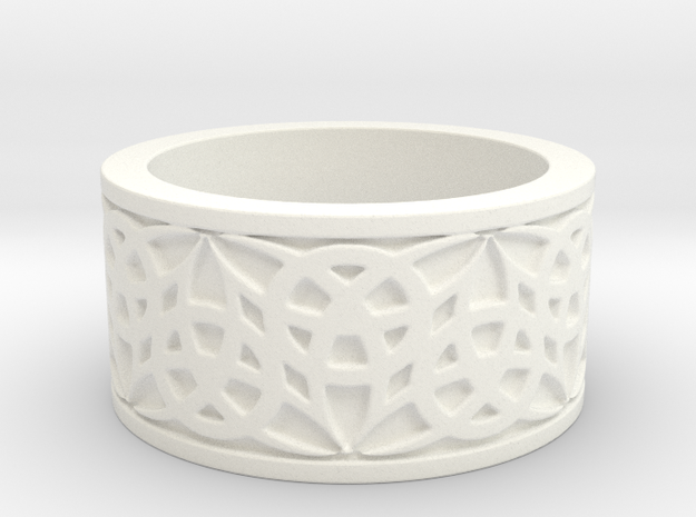 """""""Eternal Triquetra"""" Ring Size 7 in White Processed Versatile Plastic"""