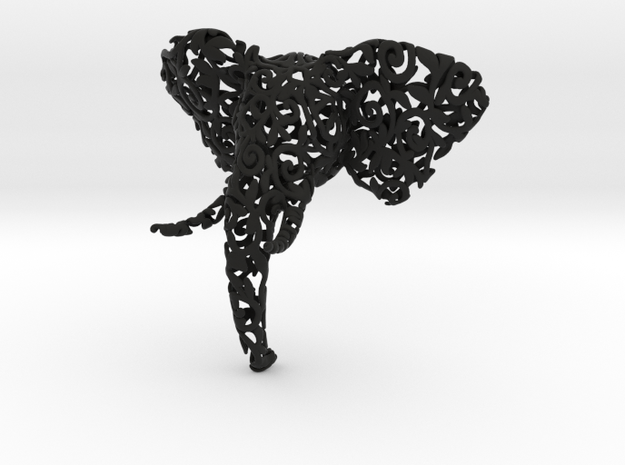 Elephant Filigree Bust 3d printed