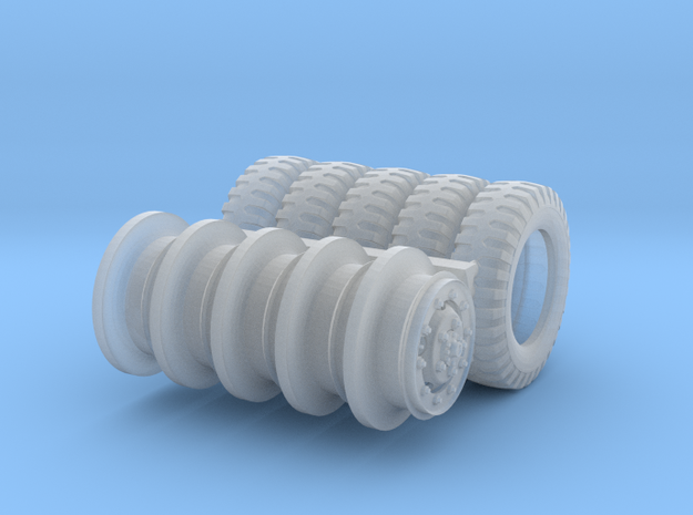 1/48 Dodge WC series wheels hollow 3d printed