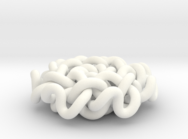 Geometric Flower Knot Pendant  3d printed