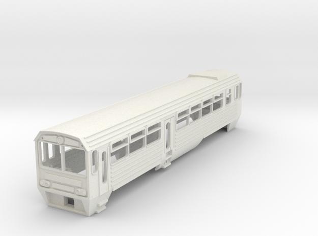 Mbxd2 Railcar - British TT scale 3mm/ft in White Natural Versatile Plastic