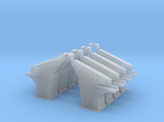 Saturn I Support Arms in 1:144 Scale (Set of 8) in Smooth Fine Detail Plastic