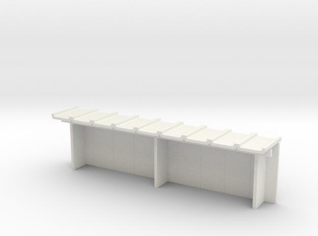 Betonfertigteil-Wartehalle groß TT in White Natural Versatile Plastic