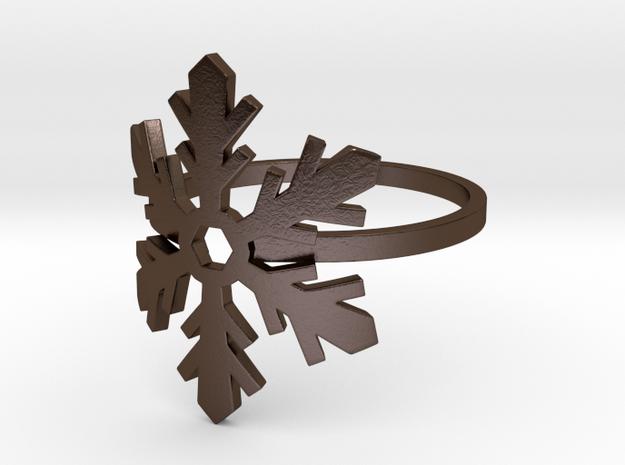Snowflake Ring 02 3d printed