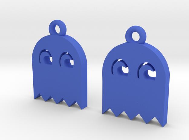 PacMan Ghost Earrings 3d printed