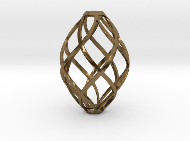 Zonohedron Pendant or Earring 3d printed