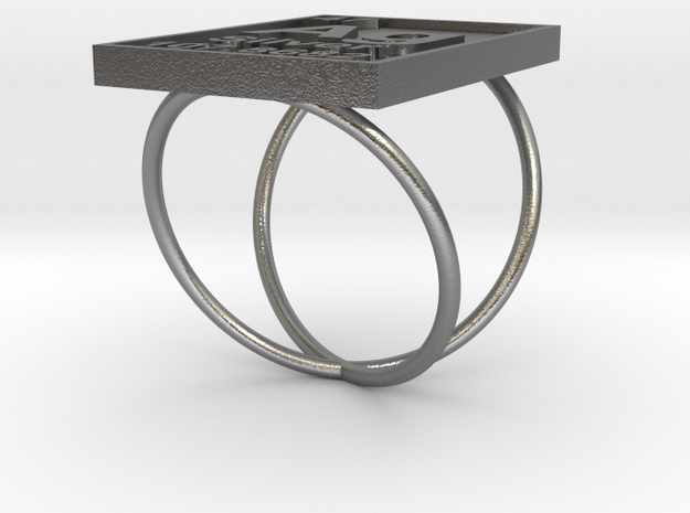 Silver Periodic Table Ring Size 6 Spiral Ring Band 3d printed