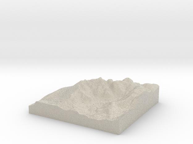 Model of Wasdale Head 3d printed