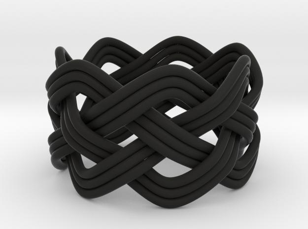 Turk's Head Knot Ring 4 Part X 7 Bight - Size 7 3d printed